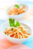 Kohlrabi and carrot salad Royalty Free Stock Image
