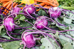 Kohlrabi and carrots Stock Photos