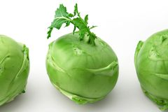 Kohlrabi head Royalty Free Stock Photo
