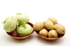 Kohlrabi with potato Stock Photo