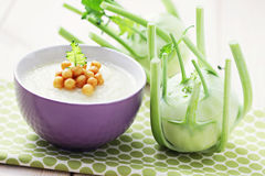 Kohlrabi soup Royalty Free Stock Photo