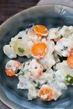 Kohlrabi with white sauce Stock Photo
