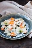 Kohlrabi with white sauce Royalty Free Stock Photos