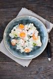 Kohlrabi with white sauce Royalty Free Stock Images