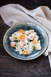 Kohlrabi with white sauce Royalty Free Stock Photo