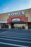 Kohls Exterior Mall Entrance. Lancaster, PA - January 15, 2017: Exterior Entrance of a Kohls store. Kohls is  a chain of retail department stores in over 1100 Royalty Free Stock Images