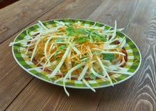 Kohlsalat mit Karotten und Kopfsalaten Stockfotos