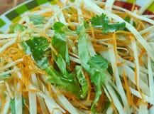 Kohlsalat mit Karotten und Kopfsalaten Lizenzfreies Stockbild
