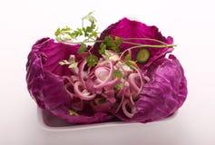 Kohlsalat-Salat mit Karotten Stockfotos