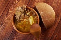 Kohlsuppe mit Fleisch Lizenzfreie Stockfotos