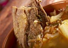 Kohlsuppe mit Fleisch Lizenzfreie Stockfotografie