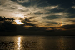 KohPhangan Thailand Sunset Boath Clouds Rainbow Stock Photography