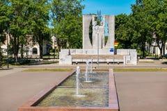 Kohtla-Jarve cityscape. Estonia, EU. View of central square in Kohtla-Jarve. Estonia, Baltic Countries, Europe. Kohtla-Jarve is the fifth-largest city in Estonia royalty free stock photo