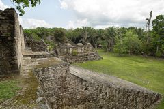 Kohunlich maya ruins in Quintana Roo Mexico. Kohunlich maya archaeological site in Quintana Roo Mexico Royalty Free Stock Image