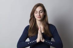 Koić ręki dla medytować przy pracą Obraz Stock