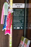 Koi风向袋西雅图日本人庭院 图库摄影