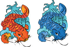 koi рыб бесплатная иллюстрация