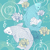 Koi carp seamless pattern. Koi carp  seamless pattern Stock Photography
