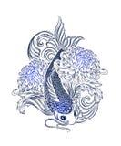 Koi carp tatoo Stock Images
