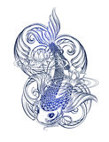 Koi carp tatoo royalty free illustration