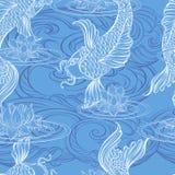 Koi carp tatoo pattern Royalty Free Stock Photography