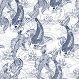 Koi carp tatoo pattern Royalty Free Stock Photos