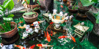 Koi carps in a pond Royalty Free Stock Images
