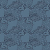 Koi carps seamless texture Stock Image