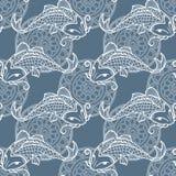 Koi carps seamless texture Stock Photo