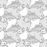 Koi carps seamless texture Royalty Free Stock Photos