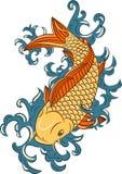 Koi de type japonais (poissons de carpe) Photo stock