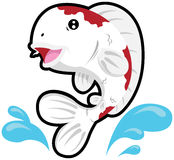 Koi fish. Illustration of a koi fish with water splashes Royalty Free Stock Photography