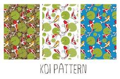 Koi Fish Pattern Fotografía de archivo