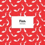 Koi Fish Pattern. Koi Fish Repeat Pattern decoration collection Royalty Free Stock Photo