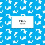 Koi Fish Pattern. Koi Fish Repeat Pattern decoration collection Stock Photo