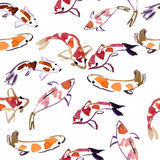 Koi watercolor background Stock Images
