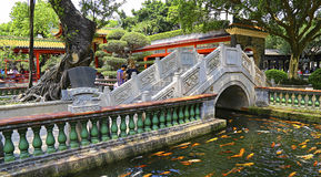 Koi fish pond at baomo garden , china Stock Images