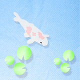 Koi fish in the pool made from tissue paper craft Stock Photography