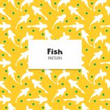 Koi Fish Pattern. Koi Fish Repeat Pattern decoration collection Stock Image