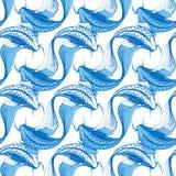Koi fish seamless pattern Royalty Free Stock Photo