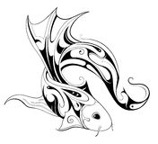 Koi fish tattoo Stock Photography