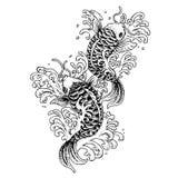Koi fish tattoo Stock Images