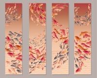 Koi fish. Vertical vector illustration of koi fish Royalty Free Stock Photography