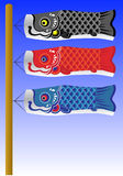 Koi flags Royalty Free Stock Images