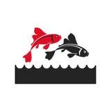 Koi japan fish symbol icon Royalty Free Stock Photos