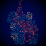 Koi japonês dos peixes Foto de Stock Royalty Free