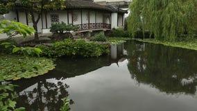 Koi Pond Sun Yat Sen-Park, Vancouver stock video footage