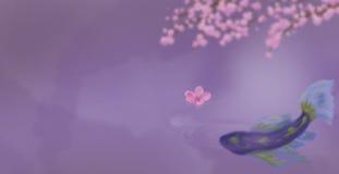 Koi In Purple Royalty Free Stock Photo