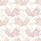 Koi ryba wzór Zdjęcia Royalty Free