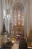 Košice - Main carved wings altar of Saint Elizabeth gothic cathedral Stock Photo